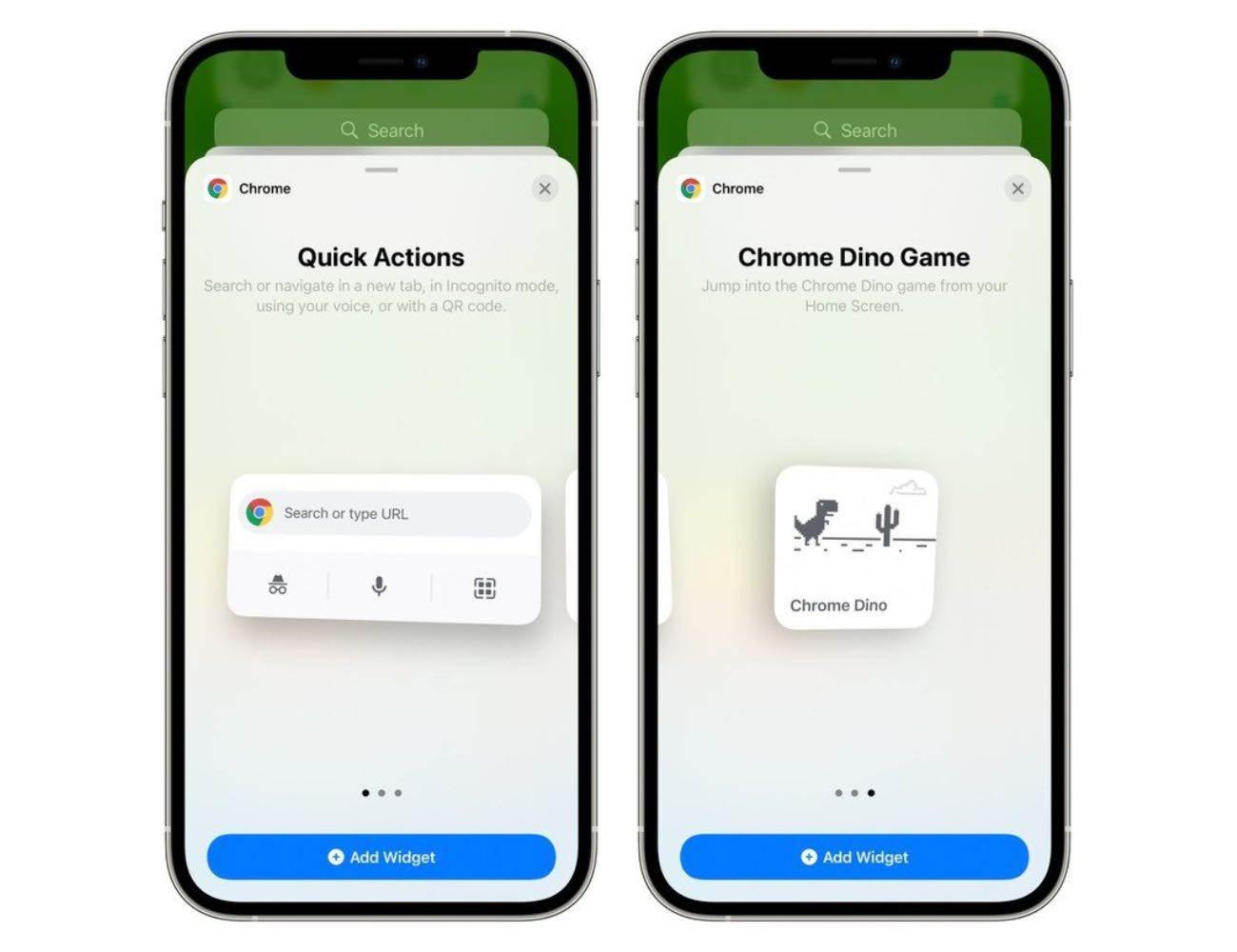 Google wypuszcza Chrome 90 dla iOS z nowymi widżetami polecane, ciekawostki widgety, iOS, Chrome  Firma Google wydała zaktualizowaną przeglądarkę Chrome 90 dla iPhone'a, iPada i iPoda touch, dodając obsługę nowych widżetów dla urządzeń z systemem iOS 14. chrome 1