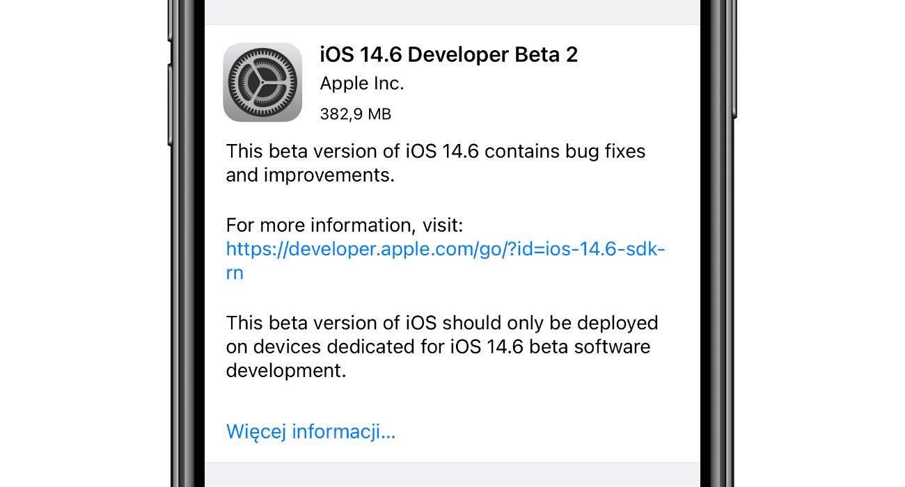Apple wypuściło iOS 14.6 / iPadOS 14.6 beta 2 - co nowego? Oto lista zmian polecane, ciekawostki zmiany, Update, lista zmian, iPadOS 14.6 beta 2, iPadOS 14.6, iOS 14.6 beta 2, iOS 14.6, co nowego w iOS 14.6, co nowego, Apple, Aktualizacja  Dobre wieści dla deweloperów. Od kilku już godzin w dziale Uaktualnienia w iUrządzeniach czeka na Was druga testowa wersja iOS 14.6 oraz iPadOS 14.6. Co nowego? Poniżej lista zmian. iOS14.6 beta2