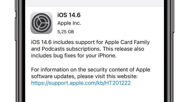 iOS 14.6 - oficjalna lista zmian polecane, ciekawostki zmiany, oficjalna lista zmian, nowosci w iOS 14.6, Nowości, lista zmian w iOS 14.6, lista zmian, iOS 14.6, co nowego w iOS 14.6, co nowego  Interesuje Cię co nowego znalazło się w udostępnionej kilka chwil temu przez Apple wersji systemu iOS 14.6 RC? Jeśli tak to poniżej mamy pełną i oficjalną listę zmian. iOS14.6RC 650x350