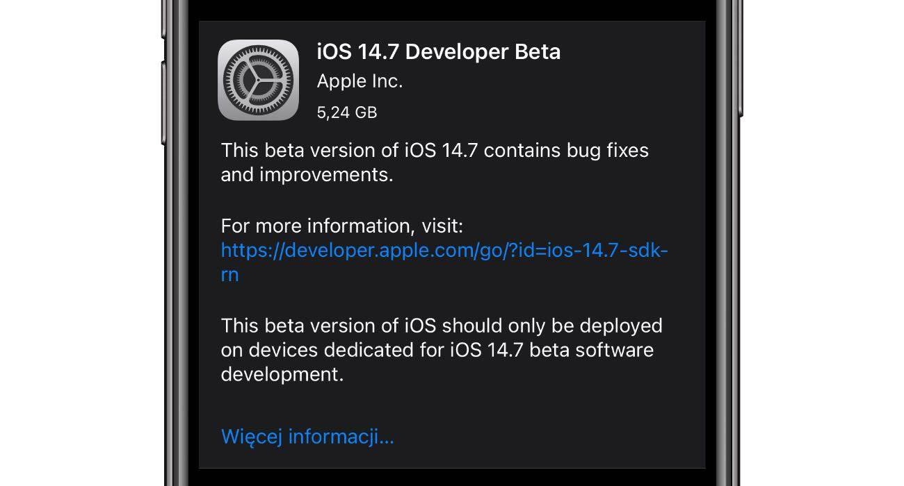 Apple wypuszcza iOS 14.7 | iPadOS 14.7 beta 1 - co nowego?  Lista zmian polecane, ciekawostki zmiany, wszystkie nowości, Update, lista zmian, ipadOS 14.7 beta 1, iPadOS 14.7, iOS 14.7 beta 1, iOS 14.7, co nowego, Apple, Aktualizacja  Dobre wieści dla deweloperów. Właśnie w menu Uaktualnienia w Waszych iUrządzeniach pojawiła się beta 1 testowego oprogramowania iOS 14.7 oraz iPadOS 14.7. Co nowego? Poniżej lista zmian. iOS14.7