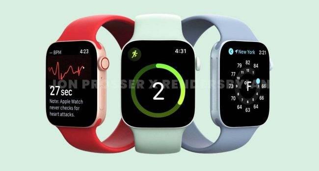 Apple zrezygnuje z nowych czujników w Apple Watch Series 7 na rzecz większej baterii polecane, ciekawostki Apple Watch Series 7, Apple  Apple zrezygnuje z wprowadzenia nowych czujników zdrowia w swoich smartwatchach z serii 7 na rzecz większej pojemności baterii.  AppleWatchSeries7 650x350