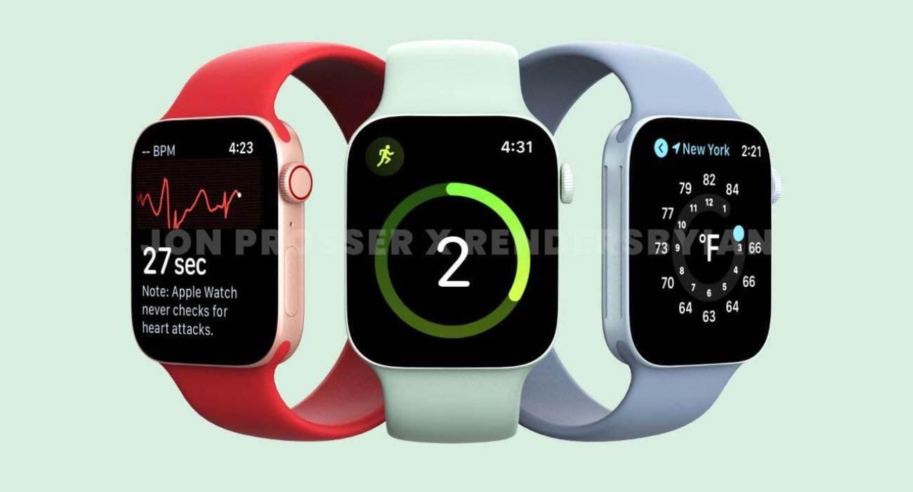 Apple Watch Series 7 będzie dostępny w dwóch zupełnie nowych rozmiarach ciekawostki apple watch series 7 rumors, apple watch series 7 rozmiar, apple watch series 7 premiera, apple watch series 7 leaks, apple watch series 7 kiedy, apple watch series 7 45 mm, apple watch series 7 41 mm, Apple Watch Series 7  Informator o pseudonimie UnclePan podzielił się informacjami o wzroście rozmiarów przyszłych smartwatchy Apple Watch Series 7 w chińskiej sieci społecznościowej Weibo. AppleWatchSeries7