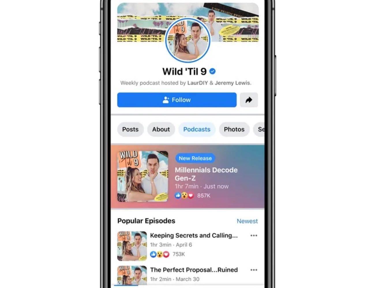 Podcasty na Facebook? Tak, już w przyszłym tygodniu polecane, ciekawostki podcasty, Facebook  Sieć społecznościowa Facebook przygotowuje się do ogłoszenia własnej platformy podcastowej. Premiera odbędzie się we wtorek 22 czerwca. FaceBook Podcast