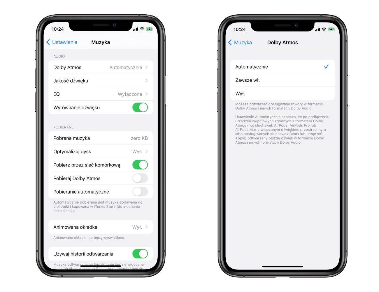 Dźwięk Lossless i Dolby Atmos oficjalnie dostępny w Apple Music. Jak włączyć funkcję? polecane, ciekawostki lossless, jak właczyć dżwięk przestrzenny, jak włączyć dźwięk lossless w Apple Music, bezstratna jakość dzwięku, Apple music  Firma Apple oficjalnie uruchomiła obsługę dźwięku przestrzennego i dźwięku bezstratnego w Apple Music. Zobacz jak uruchomić nowość na Twoim iPhone i iPad. Losses 5