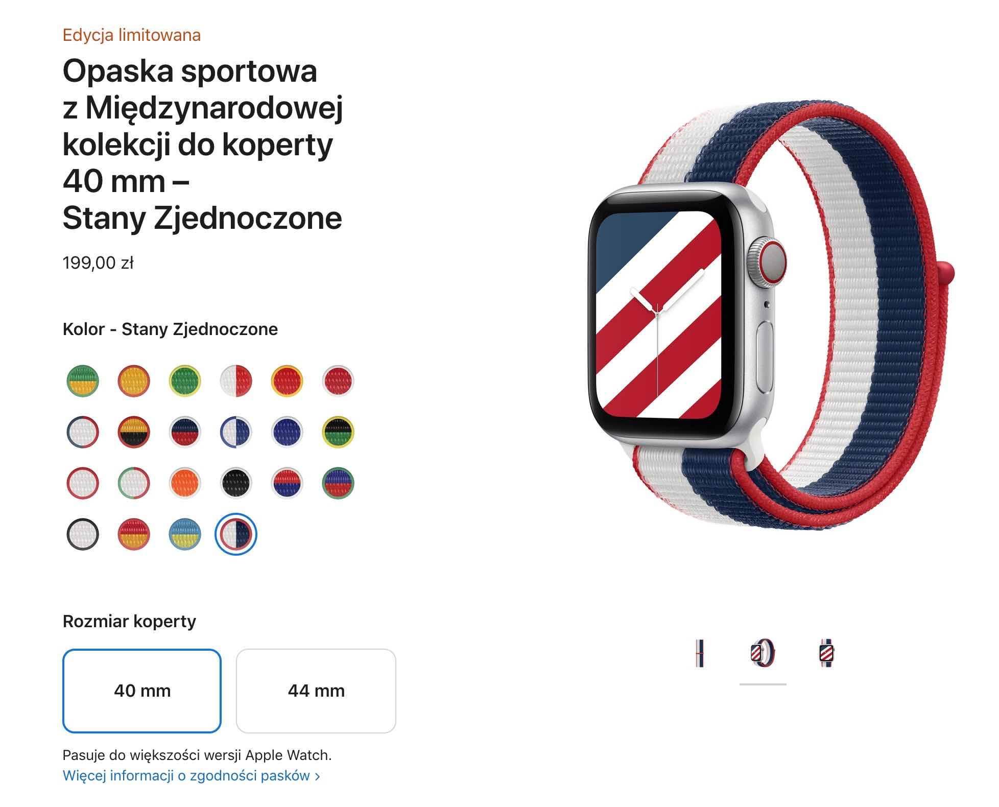 Apple wprowadza paski i tarcze inspirowane flagami polecane, ciekawostki międzynarodowe paski, Apple Watch  Dzisiaj, 29 czerwca, Apple zaprezentowało limitowaną edycję pasków dla Apple Watch, aby uczcić rychły początek Letnich Igrzysk Olimpijskich w Tokio. Opaska 1
