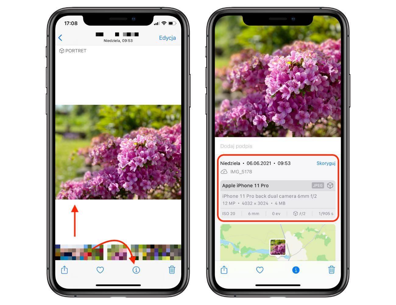 iOS 15 wprowadza możliwość przeglądania metadanych EXIF bezpośrednio w apce Zdjęcia polecane, ciekawostki metadane, iPhone, iOS 15, EXIF  Kolejną bardzo fajną funkcją w iOS 15 jest możliwość przeglądania metadanych EXIF bezpośrednio w aplikacji Zdjęcia. Jak tego dokonać? iOS informacje