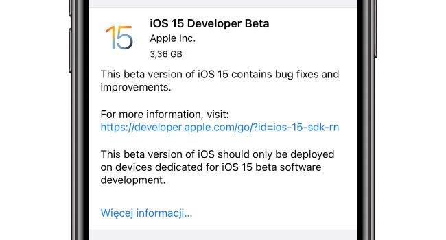 Jak zainstalować iOS 15 beta bez konta deweloperskiego poradniki, polecane, ciekawostki skad pobrac profil iOS 15, profil iPadOS 15, profil iOS 15, profil beta iPadOS 15, profil beta iOS 15 do pobrania, profil beta iOS 15, Poradnik, pobierz profil iOS 15 beta, jak zainstalwoac iOS 15 beta, jak zainstalowac iOS 15 beta 1, iOS 15 beta 1, download, do pobrania  Kilka minut temu, Apple udostępniło deweloperom iOS 15 beta 1. W tym wpisie pokażemy Wam co trzeba zrobić, aby zainstalować najnowszy system bez konta deweloperskiego. iOS15 7 650x350