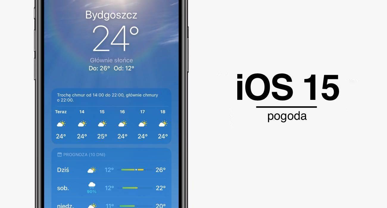 Jak zmieniła się systemowa aplikacja Pogoda w iOS 15 polecane, ciekawostki pogoda, iPadOS 15, iOS 15, aplikacja Pgoda  Na otwarciu WWDC więcej uwagi poświęcono aplikacji Pogoda niż np. tvOS. Jedna z systemowych aplikacji iOS przez całą minutę była w centrum uwagi wielomilionowej publiczności. iOS15 pogoda 3