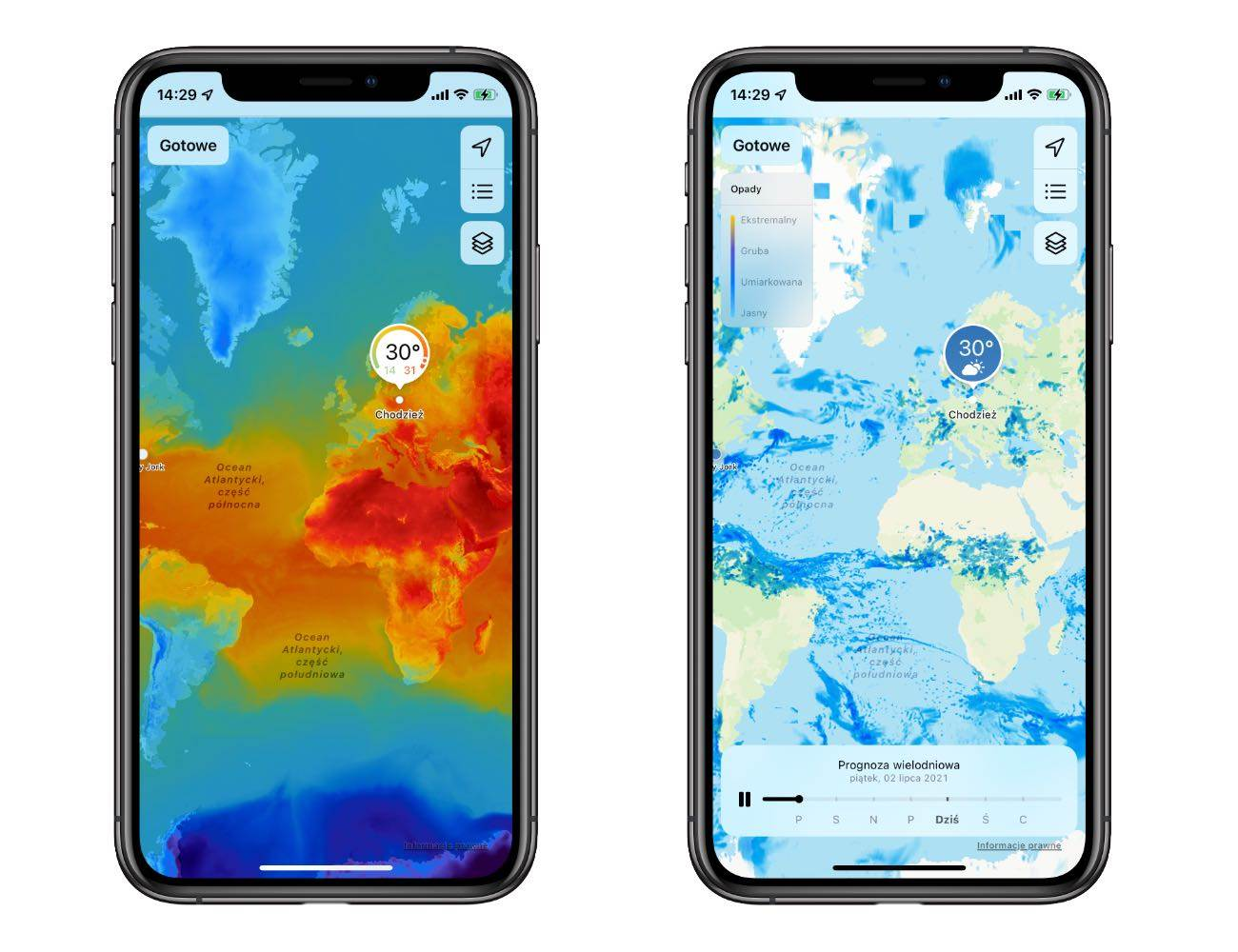 Jak zmieniła się systemowa aplikacja Pogoda w iOS 15 polecane, ciekawostki pogoda, iPadOS 15, iOS 15, aplikacja Pgoda  Na otwarciu WWDC więcej uwagi poświęcono aplikacji Pogoda niż np. tvOS. Jedna z systemowych aplikacji iOS przez całą minutę była w centrum uwagi wielomilionowej publiczności. iOS15 pogoda 4