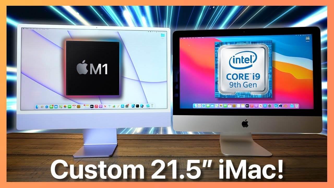 Porównanie iMac z czipem M1 z niestandardowym iMac z procesorem Intel Core i9 polecane, ciekawostki Wideo, porównanie, iMac z Intel i9, imac z czipem M1  Amerykański bloger Luc Miani porównał nowego 24-calowego iMaca M1 z niestandardowym 21,5-calowym iMac poprzedniej generacji z procesorem Intel Core i9. Wyniki okazały się imponujące. imac 1