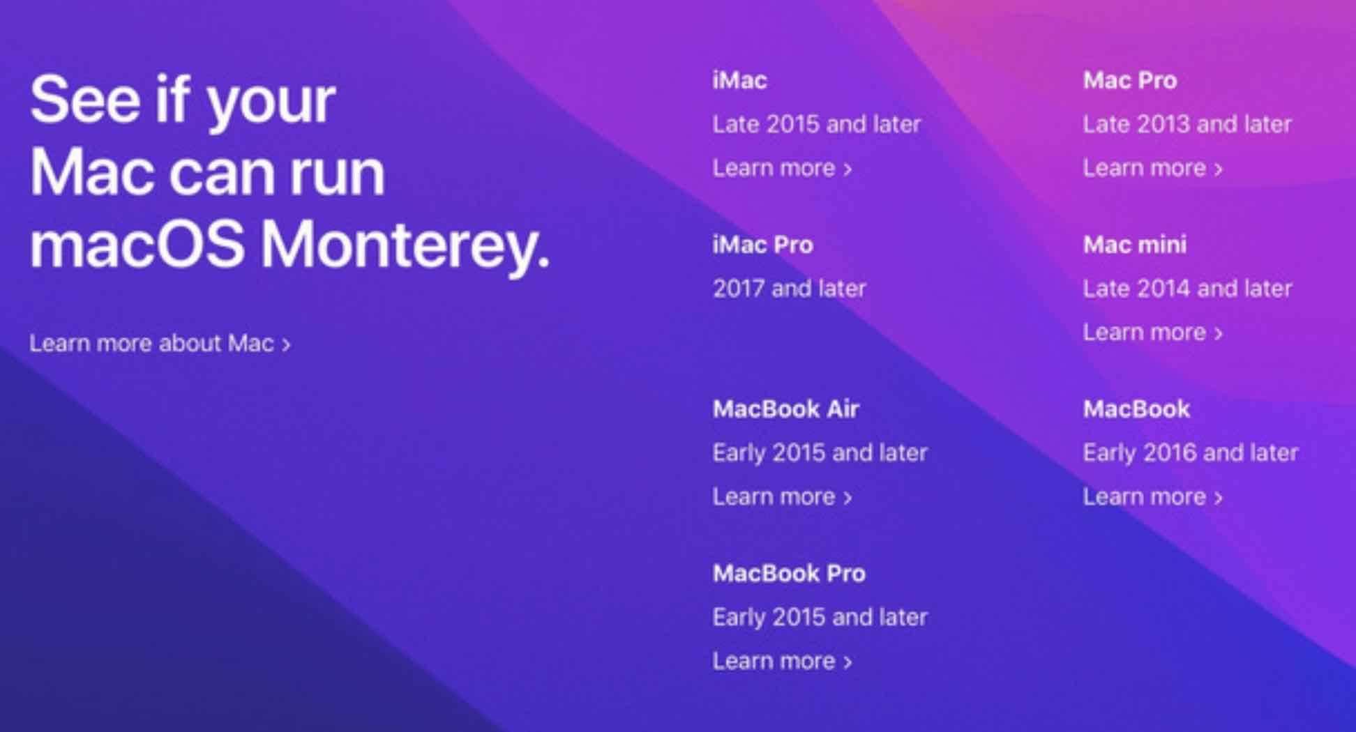 Oficjalna lista komputerów kompatybilnych z macOS 12 Monterey polecane, ciekawostki macOS Monterey, macOS 12 Monterey, lista komputerów kompatybilnych z macOS 12 Monterey, komputery  Jak zapewne wiecie wczoraj, Apple zaprezentowało światu nowy system macOS 12. O nowościach możecie przeczytać tutaj. W tym wpisie mamy dla Was listę Maków kompatybilnych z nowym systemem. moneterey