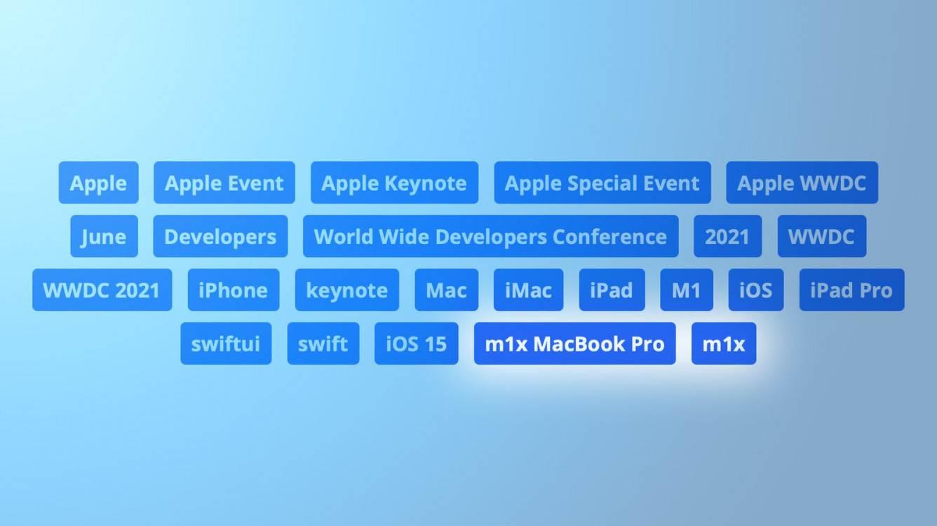 Apple użyło tagów M1X i MacBook Pro w filmie WWDC 2021 na YouTube polecane, ciekawostki Youtube, WWDC 2021, MacBook Pro, M1X MacBook Pro, M1X  Blogger Max Balser napisał na Twitterze o ciekawym znalezisku: Apple dodało tag ?m1x MacBook Pro? do transmisji na żywo z keynote otwierającego tegoroczne WWDC 2021 na YouTube. wwdc tags