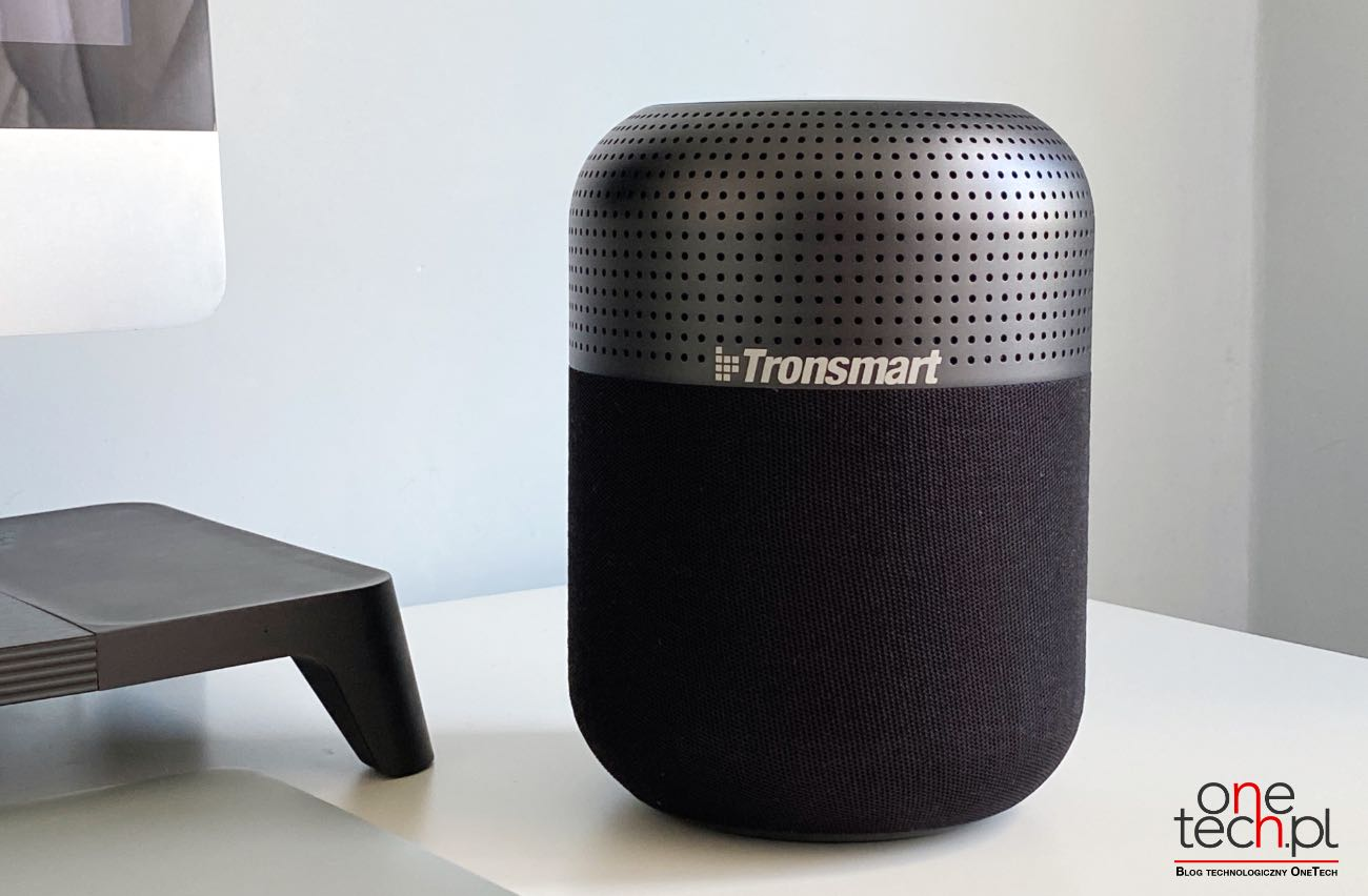 Duża moc, przestrzenny dźwięk 360°, wygląd podobny do HomePod - poznajcie Tronsmart T6 Max recenzje, polecane, ciekawostki Tronsmart T6 Max, Tronsmart, Recenzja, głośnik  T6 Max to najnowszy głośnik Bluetooth w chińskim portfolio firmy Tronsmart, będący obecnie najmocniejszym głośnikiem produkowanym przez firmę. Od kilku tygodni jesteśmy w posiadaniu urządzenia, więc przyszedł czas, aby napisać Wam kilka zdań na jego temat. Transmart 10