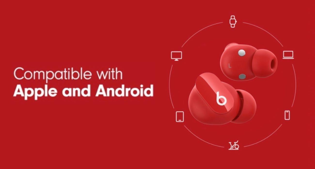 Apple reklamuje najnowsze słuchawki Beats Studio Buds z... Samsung Galaxy S21 ciekawostki galaxy S21, Beats Studio Buds, Android  Apple reklamuje nowe słuchawki Beats Studio Buds TWS sparowane ze smartfonem Samsung Galaxy 21. Firma chce więc podbić rynek słuchawek bezprzewodowych, sprzedając zestaw słuchawkowy Beats właścicielom smartfonów z Androidem. buds 1