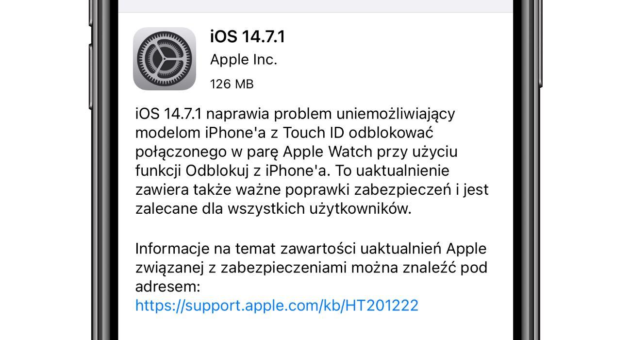 Apple wypuszcza iOS 14.7.1 i iPadOS 14.7.1 - co nowego? Lista zmian polecane, ciekawostki Update, OTA, lista zmian, iPhone, iPadOS 14.7.1, iOS 14.7.1, Apple, Aktualizacja  Dość niespodziewanie, Apple udostępniło w tym momencie wszystkim użytkownikom nowe systemy - iOS 14.7.1 oraz iPadOS 14.7.1. iOS14.7.1