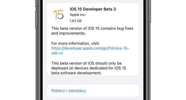 Co nowego w iOS 15 beta 3 polecane, ciekawostki zmiany, Wideo, Nowości, lista zmian w iOS 15 beta 3, iPadOS 15 beta 3, iOS 15 beta 3, co nowego  Na początku tygodnia firma Apple udostępniła deweloperom iOS 15 beta 3, iPadOS 15 beta 3, więc czas najwyższy na przegląd nowości i zmian jakie pojawiły się w najnowszych piętnastkach. iOS15beta3 650x350