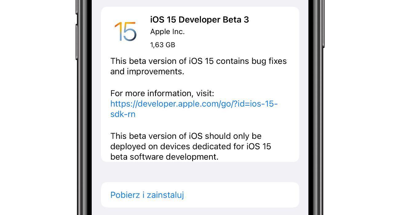 Co nowego w iOS 15 beta 3 polecane, ciekawostki zmiany, Wideo, Nowości, lista zmian w iOS 15 beta 3, iPadOS 15 beta 3, iOS 15 beta 3, co nowego  Na początku tygodnia firma Apple udostępniła deweloperom iOS 15 beta 3, iPadOS 15 beta 3, więc czas najwyższy na przegląd nowości i zmian jakie pojawiły się w najnowszych piętnastkach. iOS15beta3