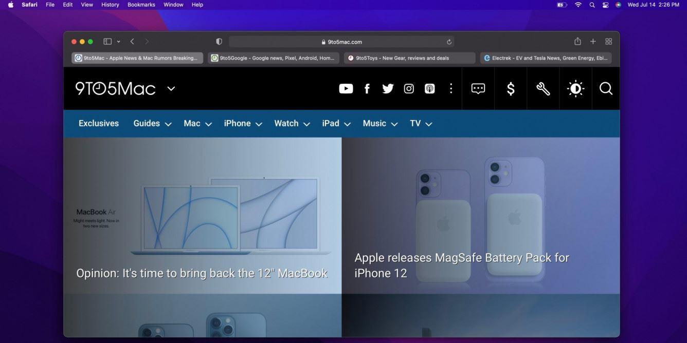 Apple przeprojektowuje Safari w macOS Monterey beta 3 polecane, ciekawostki macOS Monterey, macOS 12 Monterey  W trzeciej wersji beta macOS Monterey, która wypuszczona została wraz z iOS 15 beta 3, Apple przeprojektowało Safari, przywracając pasek kart z macOS Big Sur. monetery safari