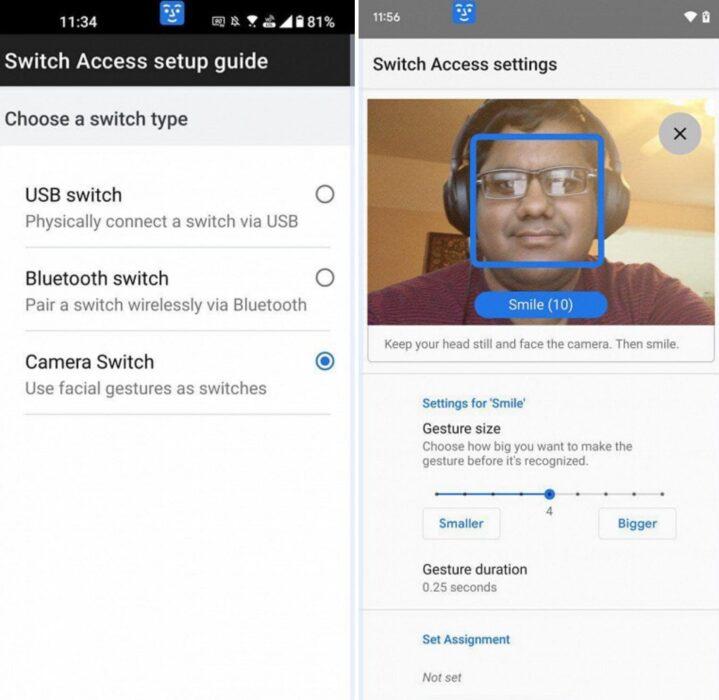 Android 12 pozwoli kontrolować smartfon twarzą! ciekawostki sterowanie gestami, minika twarzy, android 12 release date, android 12 kiedy, android 12 download, android 12 beta  Wydana w tym tygodniu czwarta beta Android 12 ujawniła ciekawe funkcje w Android Accessibility Suite 12.0.0 -  sterowania smartfonem twarzą. Android12 1 719x700