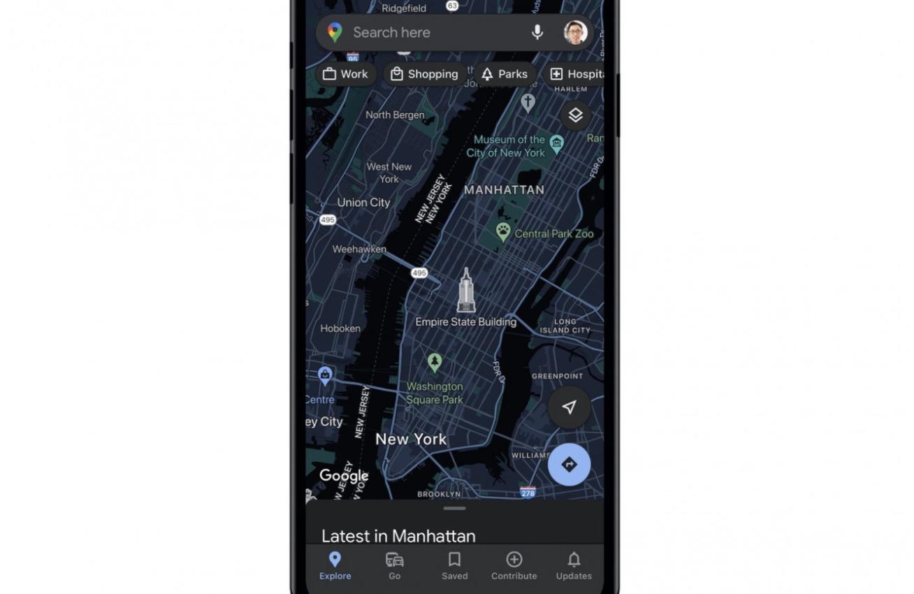 Tryb ciemny już wkrótce w Google Maps na iOS polecane, ciekawostki tryb nocny, tryb ciemny, Mapy Google, Google Maps  Google ogłosiło, że w jednej z kolejnych aktualizacji aplikacji Google Maps na iPhone, wreszcie pojawi się na pewno przez wielu długo wyczekiwany tryb ciemny. GoogleMaps 1