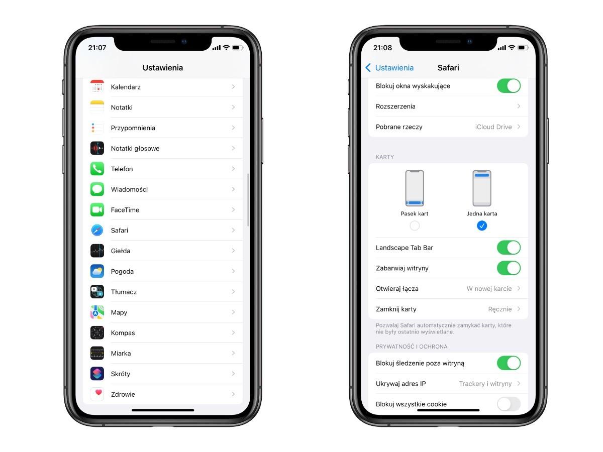 Jak przywrócić stary wygląd paska adresu w Safari na iOS 15 poradniki, ciekawostki stary pasek, safari, pasek Safari w iOS 15, nowy pasek Safari, jak przywrócić stary wygląd Safari  Jedną z nowości w iOS 15, która może nie wszystkim się podoba jest nowy wygląd Safari i zmiana miejsca paska adresu, który teraz domyślnie znajduje się na dole strony iOS15 stary pasek safari