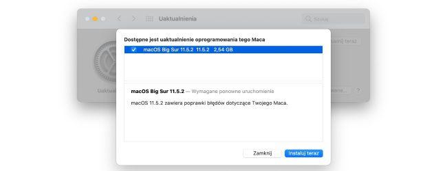 Apple wypuszcza macOS Big Sur 11.5.2 z ważnymi poprawkami bezpieczeństwa ciekawostki Update, macOS 11.5.2, lista zmian, co nowego  Wczoraj w godzinach wieczornych firma Apple udostępniła nową wersję systemu macOS 11.5.2 Big Sur z ważnymi poprawkami bezpieczeństwa. Poniżej oficjalna lista zmian. macOS11.5.2 650x250