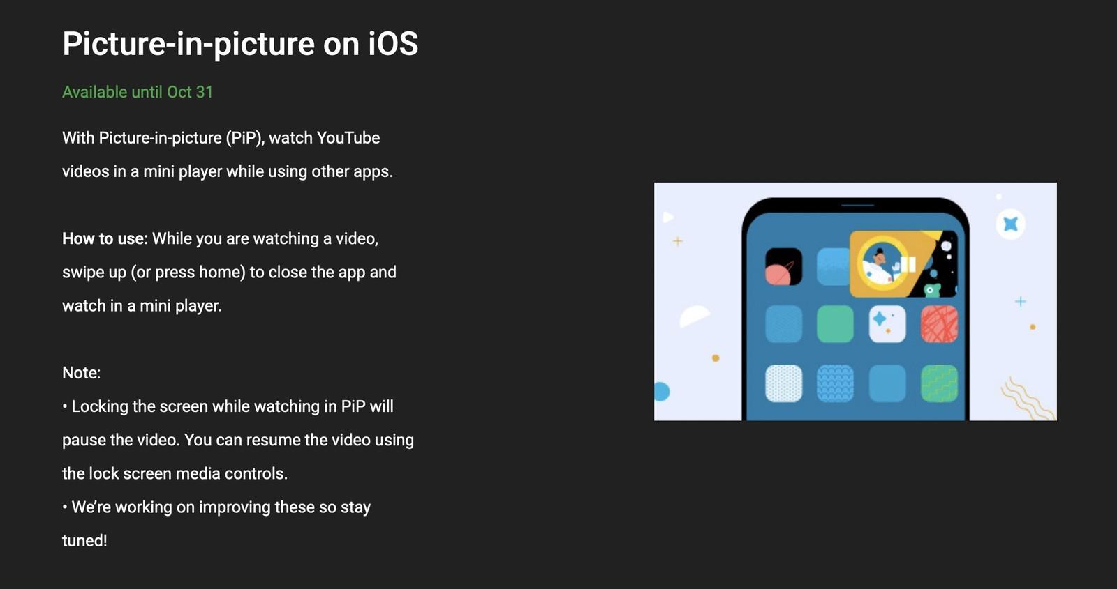 Obraz w obrazie w końcu dostępny w aplikacji YouTube na iOS. Jak włączyć? poradniki, ciekawostki youtube premium, pip w youtube na iphone, pip w youtube na ios, pip, Picture in Picture, obraz w obrazie w aplikacji youtube na iphone, Obraz w obrazie, jak uruchomic pip w aplikacji youtube na iphone, jak korzystac z pip w youtube na iPhone, jak aktywowac tryb pip w aplikacji youtube, Instrukcja  Google zezwoliło użytkownikom mającym YouTube Premium na aktywację usługi Obrazu w obrazie w swojej aplikacji na iPhone. Jak skorzystać z nowości? Wystarczy wykonać kilka kliknięć. youtube picture in picture