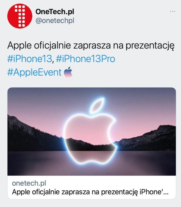 Apple wprowadza unikalny hashtag na Twitterze przed prezentacją iPhone 13 ciekawostki Twitter, hashtag, appleevent  Apple zgodnie z tradycją uruchomiło na Twitterze unikalny hashtag #AppleEvent. Obok niego pojawia się logo Apple, które wykonane jest w tym samym stylu co to na zaproszeniu. 1@2x
