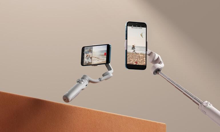 DJI przedstawiło nowy gimbal Osmo Mobile 5 ciekawostki Osmo Mobile 5, OM5, gimbal, DJI Osmo Mobile 5, DJI OM5, DJI, cena  DJI oficjalnie zaprezentowało nowy Osmo Mobile 5 z teleskopowym uchwytem, który pozwala używać gadżetu jako kijka do selfie. OSMO5 1