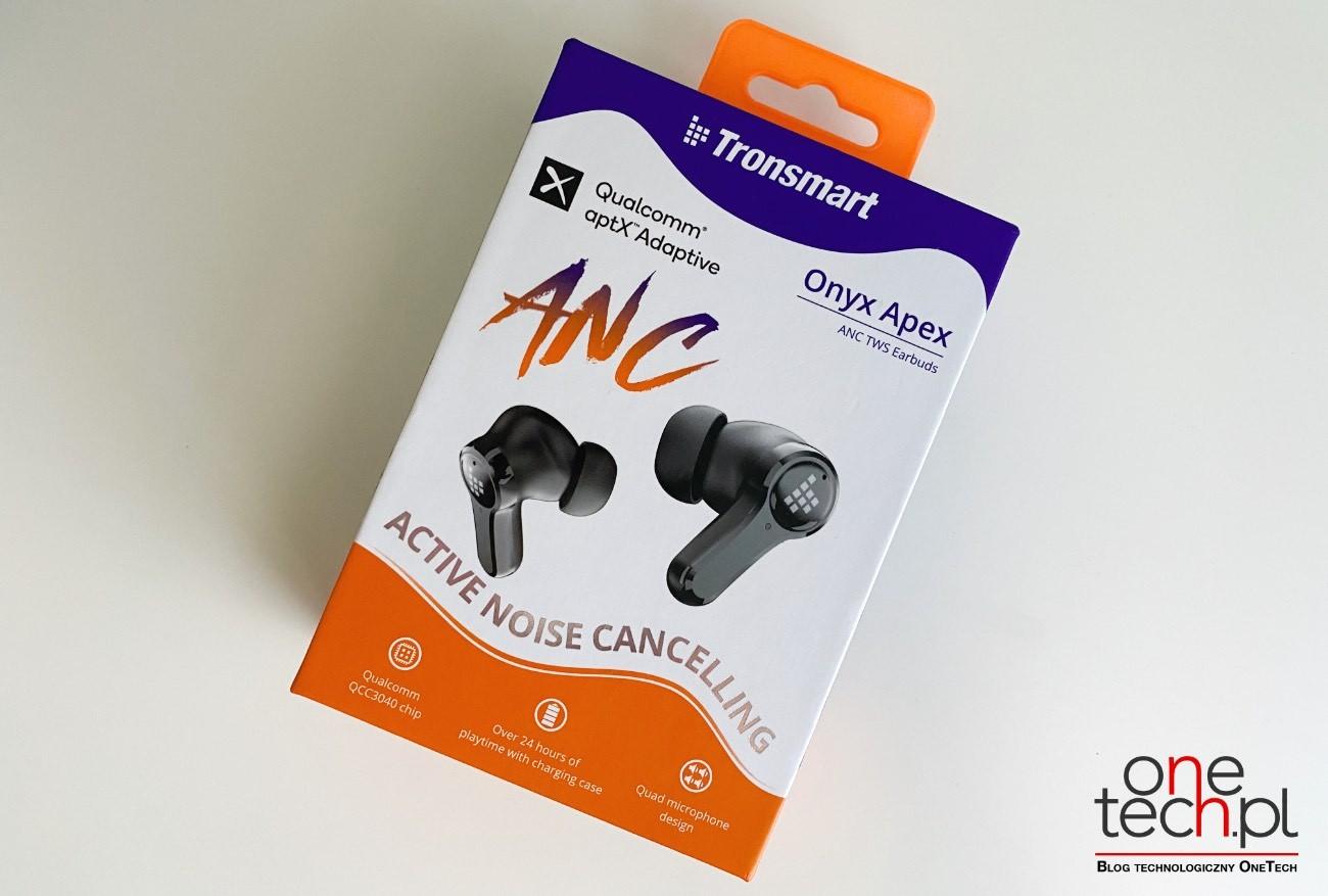 Tronsmart Onyx Apex - bezprzewodowe, niedrogie douszne słuchawki z ANC recenzje, ciekawostki Tronsmart Onyx Apex recenzja, Tronsmart Onyx Apex, słuchawki, bezprzewodowe słuchawki Tronsmart Onyx Apex  Posiadanie dobrych słuchawek z ANC, które izolują Cię od zewnętrznego hałasu, jest dziś niezbędne. Dlatego chcemy przedstawić Wam i polecić Tronsmart Onyx Apex - bezprzewodowe i kompaktowe słuchawki douszne z ANC. apex 4