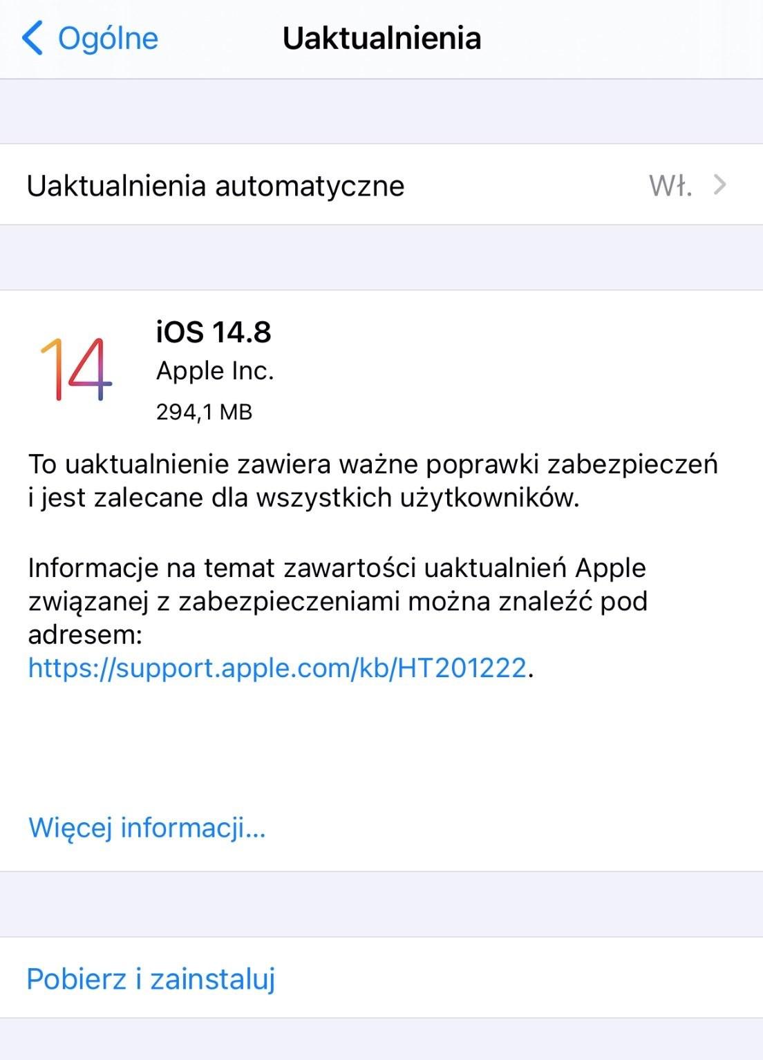 Apple wypuszcza iOS 14.8 i iPadOS 14.8 - lista zmian ciekawostki Update, OTA, lista zmian, iPhone, iPadOS 14.8, iOS 14.8, Apple, Aktualizacja  Dość niespodziewanie, Apple udostępniło w tym momencie wszystkim użytkownikom nowe systemy - iOS 14.8 oraz iPadOS 14.8. Co nowego? iOS14.8