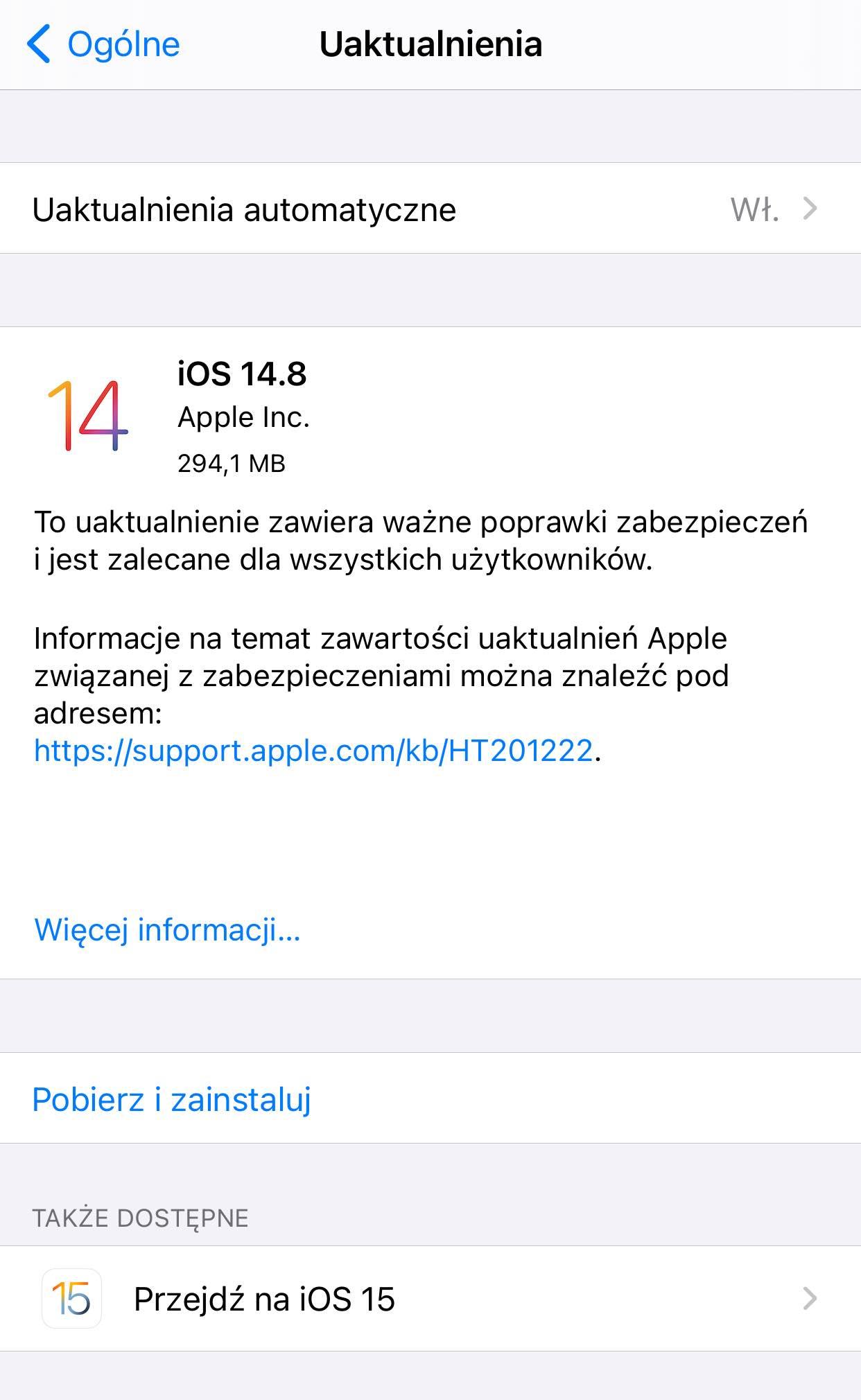 Apple zmienia system aktualizacji. Możesz zostać na iOS 14 tak długo, jak chcesz! ciekawostki iOS 15, iOS 14, Aktualizacja  7 września na WWDC 2021 Apple pokazało nam swoje nowe systemy operacyjne – iOS 15, iPadOS 15 i powiedziało coś niezwykłego – coś, co zmienia tradycyjną koncepcję aktualizacji urządzeń firmy. iOS148 ios15