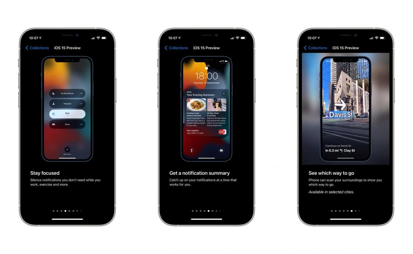 Apple przedstawia nowe funkcje iOS 15 przed zbliżającą się aktualizacją ciekawostki zmiany w ios 15, nowości w iOS 15, iOS 15, co nowego w iOS 15  W oczekiwaniu na zbliżającą się prezentację nowych smartfonów, smartwatchy i słuchawek AirPods, Apple zaczęło wysyłać użytkownikom iPhone'a powiadomienia o innowacjach w iOS 15. ios 15 preview tips 1