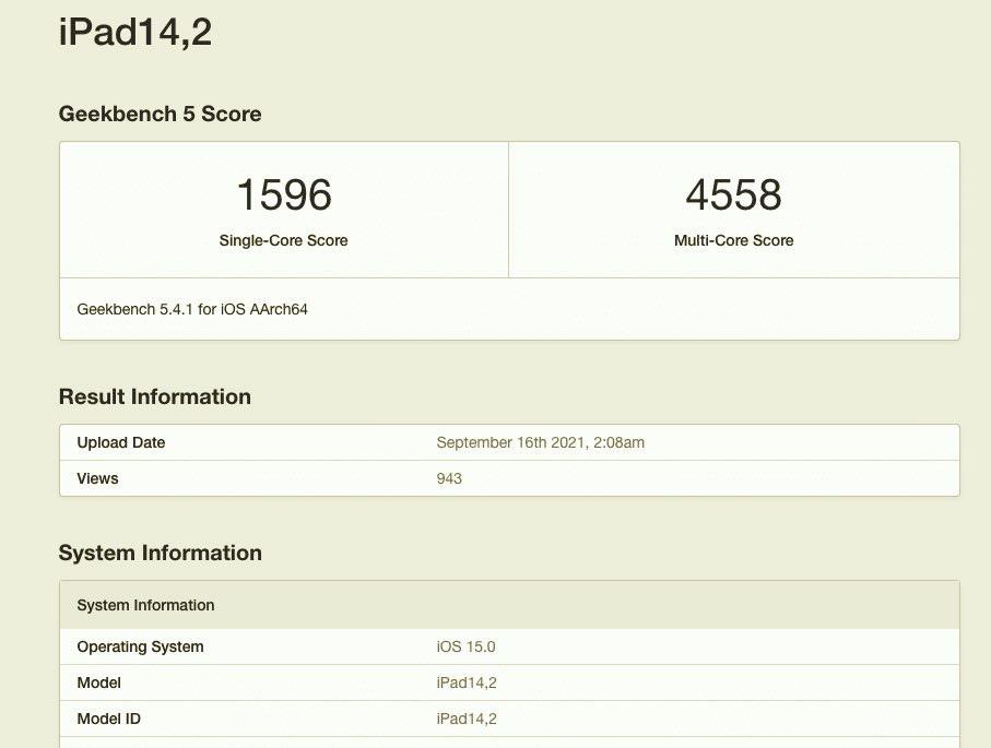 iPad mini 6 ma wolniejszy czip A15 Bionic w porównaniu do iPhone'a 13 ciekawostki test szybkosci ipad mini, jak szybki jest nowy ipad mini, ipad mini 2021 w geekbench, iPad mini 2021, iPad mini, GeekBench  Nowy zaprezentowany podczas wydarzenia California Streaming iPad mini 6 (2021) ma ten sam czip A15 Bionic co iPhone 13. Okazuje się, że nie do końca. ipadmini geekbench