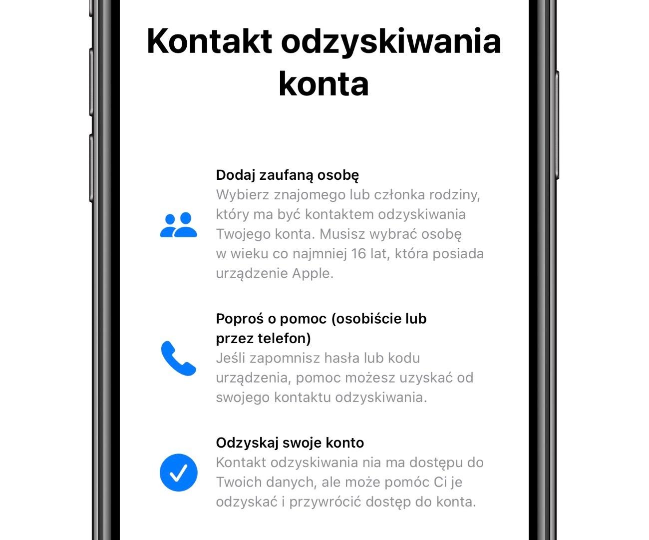 Jak wybrać kontakt do odzyskiwania konta Apple w iOS 15 poradniki, ciekawostki zaufany kontakt, odzyskiwanie konta apple, odzyskiwanie hasla do konta apple, jak odzyskac konto apple, jak odzyskac haslo do konta apple, jak odzyskac haslo do icloud, ios 15 i odzyskiwanie konta apple, iOS 15  Może nie wszyscy z Was wiedzą, ale w systemie iOS 15 można wybrać zaufany kontakt do odzyskiwania konta Cloud konta Apple. odzyskiwanie hasla