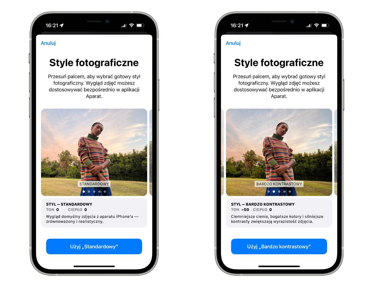 Style fotograficzne w iPhone 13 | 13 Pro - jak używać? ciekawostki style fotograficzne w iphone 13, style fotograficzne, jak uzywac style fotograficzne w iphone 13, iPhone 13 Pro, iPhone 13  Jedną z nowych funkcji, która pojawiła się w iPhone 13 | 13 Pro są style fotograficzne. Co to takiego i jak używać nowości? style 2