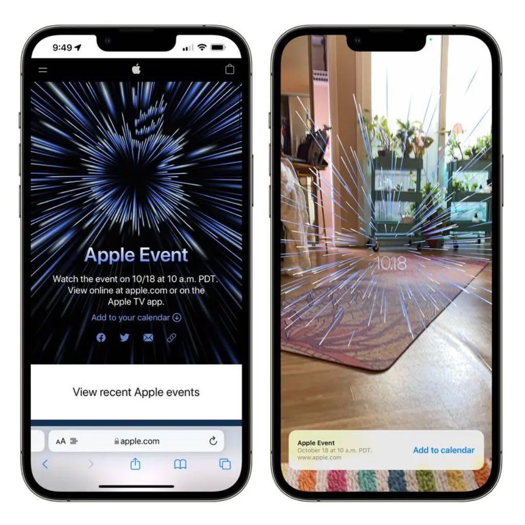 """Spójrz na logo jesiennego wydarzenia """"Unleashed"""" w AR ciekawostki   Apple ogłosiło wczoraj datę swojego drugiego jesiennego wydarzenia, które ma się odbyć w poniedziałek 18 października. Jak zwykle strona Apple Events zawiera logo, które można wyświetlić w AR. event2"""