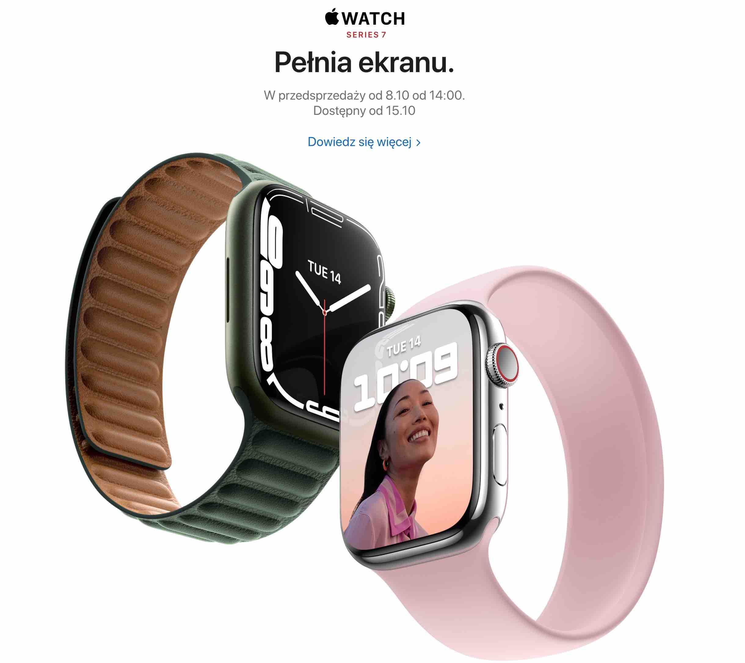 Apple ujawnia datę sprzedaży i przedsprzedaży Apple Watch Series 7 ciekawostki sprzedaz Apple Watch Series 7, przedsprzedaz Apple Watch Series 7, kiedy premiera Apple Watch Series 7  Jeśli czekasz na nowego Apple Watch Series 7, to mamy dobre wiadomości. Apple oficjalnie zdradziło datę rozpoczęcia sprzedaży i przedsprzedaży najnowszych smartzegarków. przesprzedaz AppleWartch